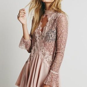 Free People Pink Lace Tunic. Never worn.